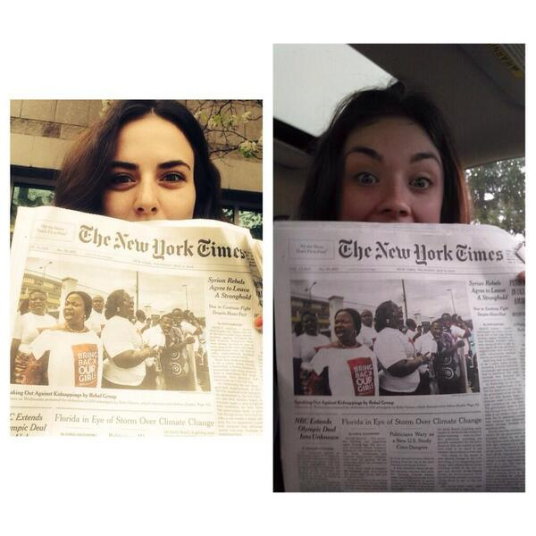 #BringBackOurGirls makes the New York Times front page